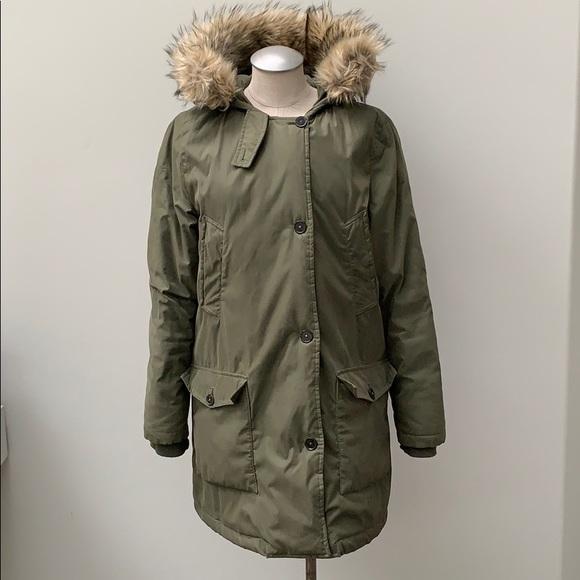 Olive Parka Coat